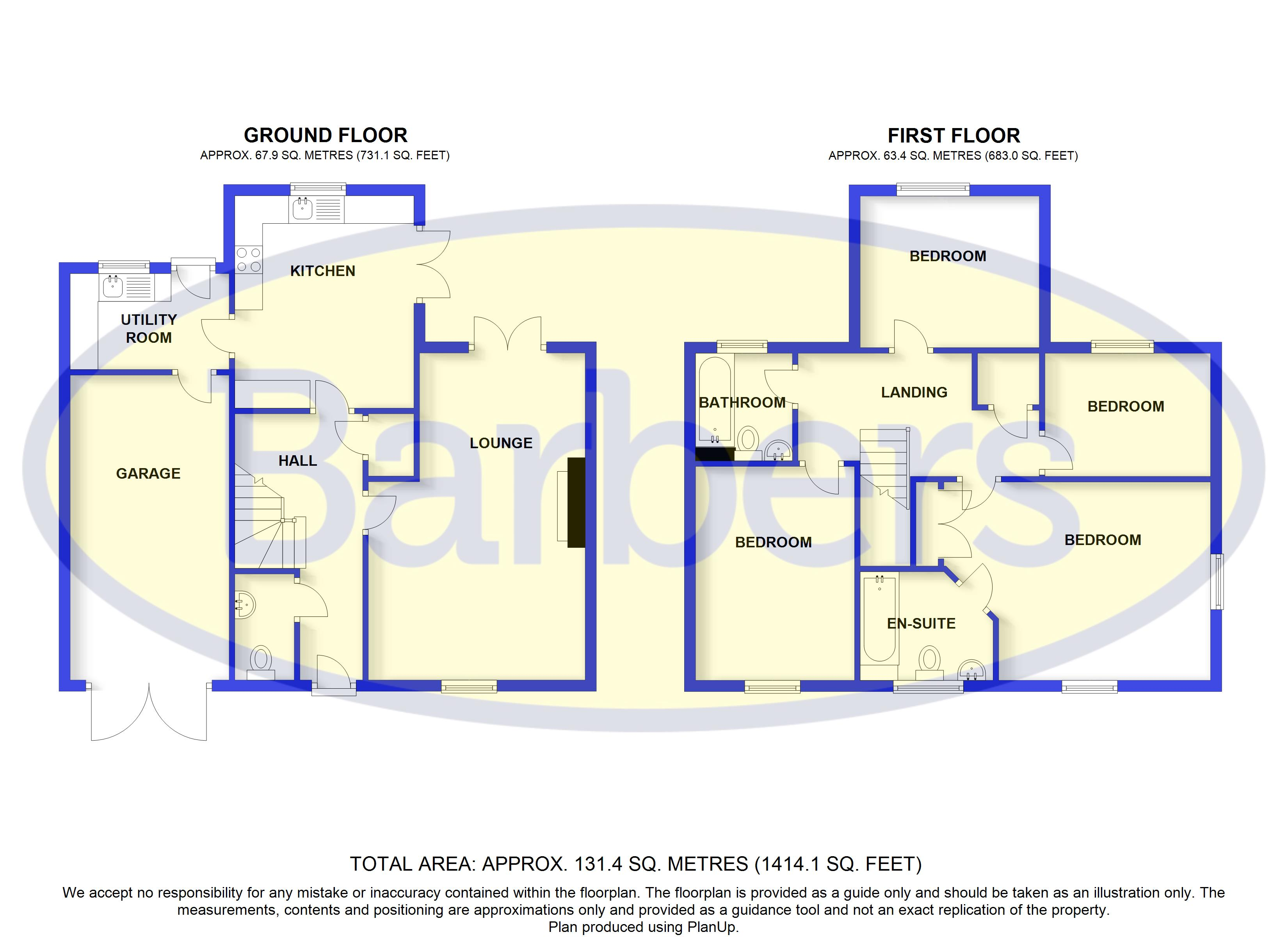 Floorplans For Mount Crescent, Whitchurch